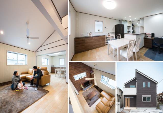 ◆ 勾配天井の2階リビングと趣味を楽しむホームシアター ◆ ― 神奈川県T様邸