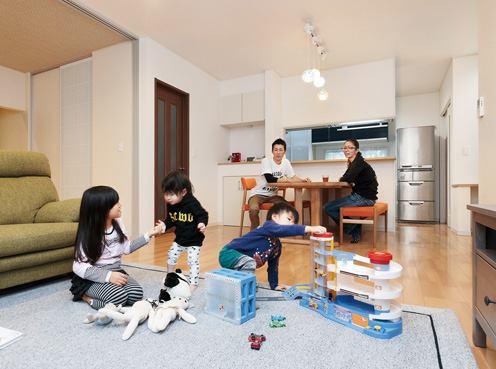 ☆*:.。. 3人の子育てをしながら、スッキリのびのび暮らせる家o .。.:*☆
