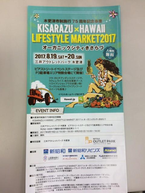 木更津市制施行75周年記念事業 KISARAZU×HAWAII LIFESTYLE MARKET2017