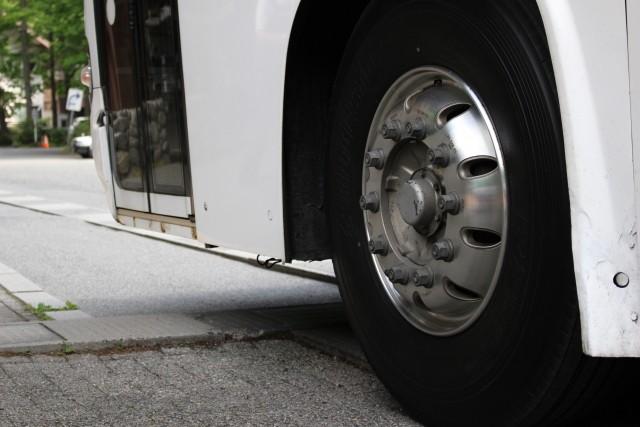 工場内の通勤バスの運行を担っております