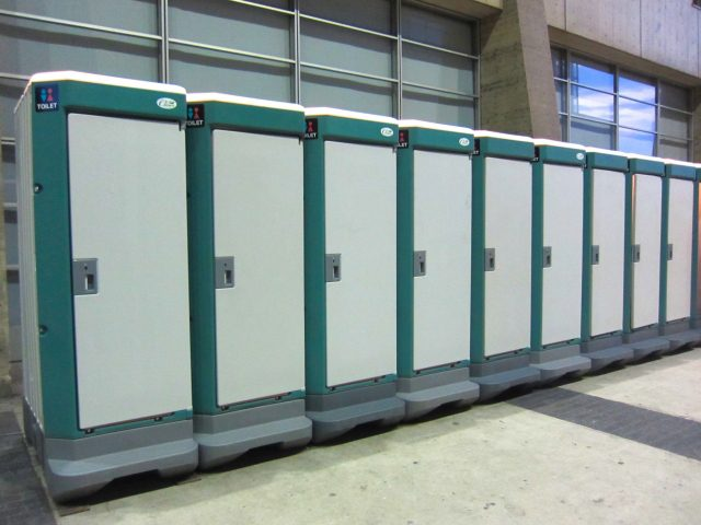 仮設トイレの運搬費0円から。お気軽にお問い合わせください。