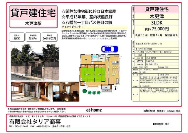 【物件情報!】貸家・売地・貸店舗