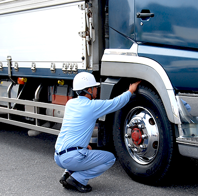 徹底した安全管理と従業員教育で交通事故ゼロを目指します