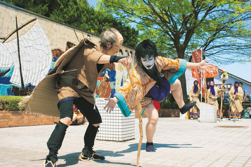 ▲歌舞伎「忠臣蔵・五段目」を基にした劇の様子