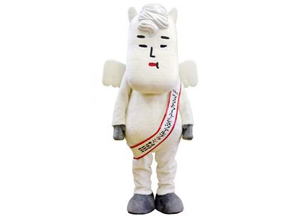 白馬村キャラクター「ヴィクトワール・シュヴァルブラン・村男Ⅲ世」
