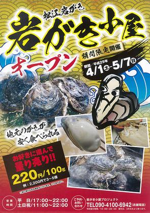 新鮮な松江いわがき「岩がき小屋 2017」開催中!