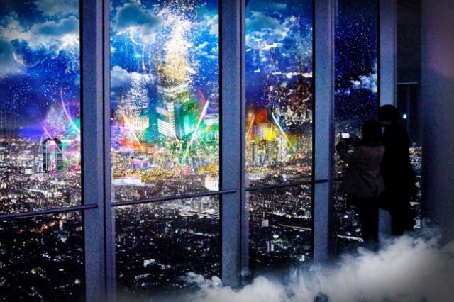 展望台が近未来都市「シティライトファンタジア」