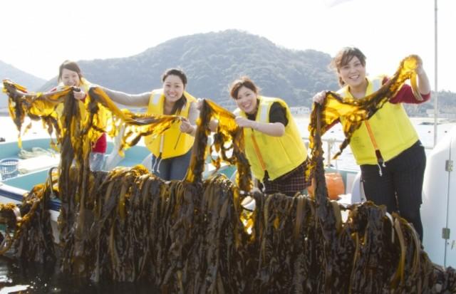 春のシェア旅「#ルネッサンス鳴門わかめ収穫体験」♪ 船に乗ってワカメ漁へ!刈り取り~塩蔵、しゃぶしゃぶ試食まで