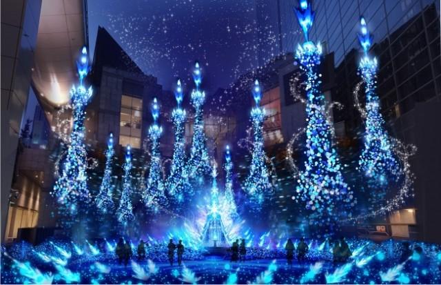 プリンセスイルミ「Caretta Illumination 2018」・汐留