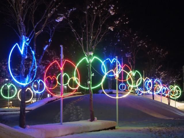光のアート「芸術イルミネーションパーク」・北上市