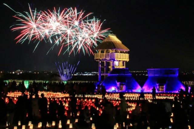 弥生時代の生活の風景を再現「吉野ヶ里 光の響」・吉野ヶ里町